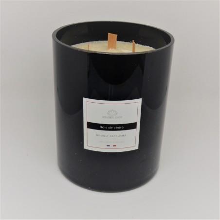 Bougie Parfumée crépitante Bois de cèdre 1 kg