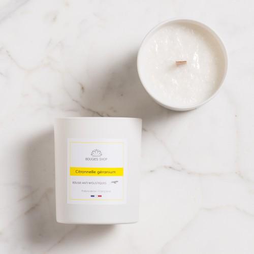 Bougie anti moustique Citronnelle Géranium