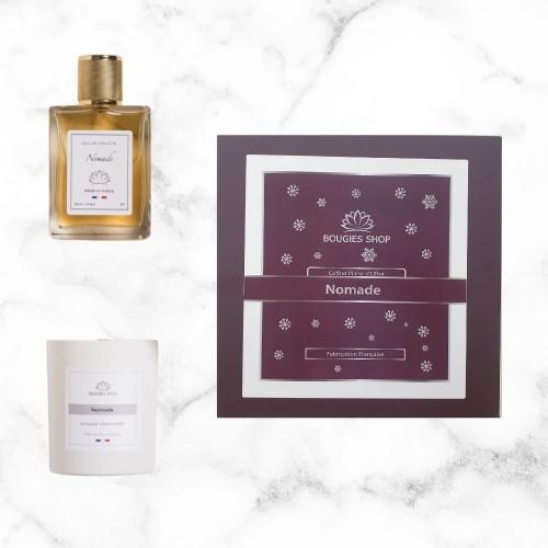 Coffret cadeau Nomade bougie parfumée + eau de parfum